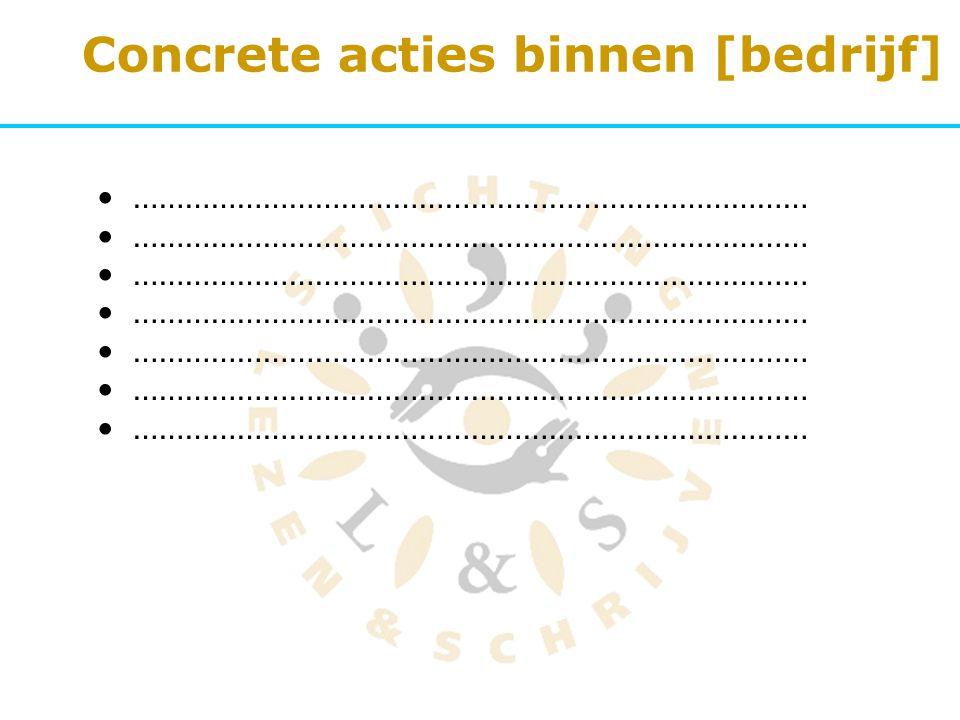 Concrete acties binnen [bedrijf]